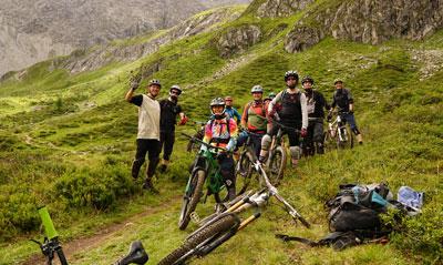 Reschenpass Enduro Rad am See